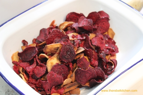 Salted Beetroot and Parsnip Crisps