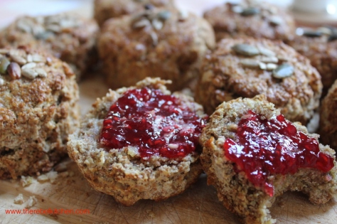 Brown Scones With Oats