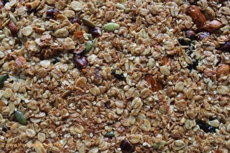 Delicious Tray Of Freshly Baked Granola Bars
