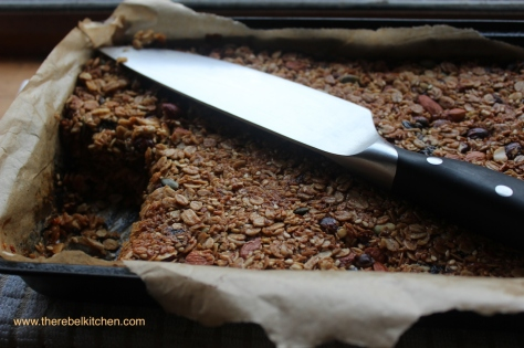 Delicious Tray of Homemade Granola Bars