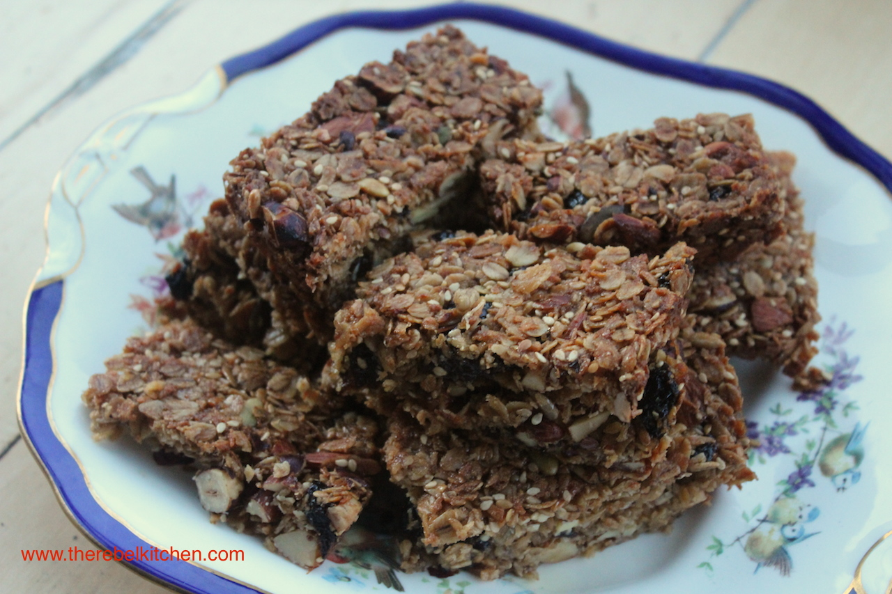 homemade granola bars granola bars the rebel kitchen 30503