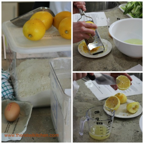 Zesting And Juicing Our Lemons