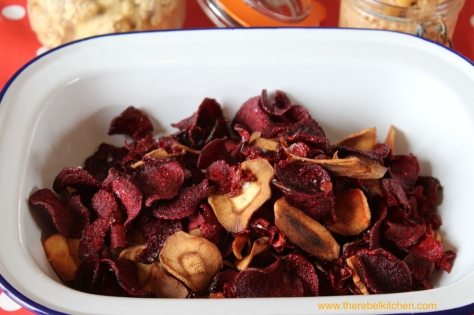 Beetroot and Parsnip Crisps