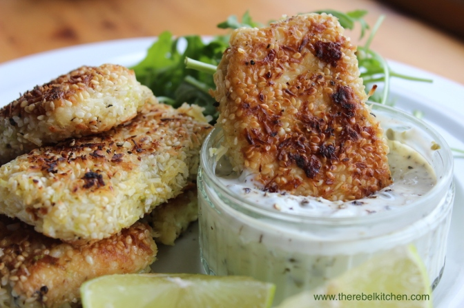 Posh Fish Fingers & Dipping Sauce