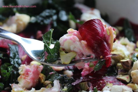 Beetroot, Kale and Mozzarella Salad In All Its Glory