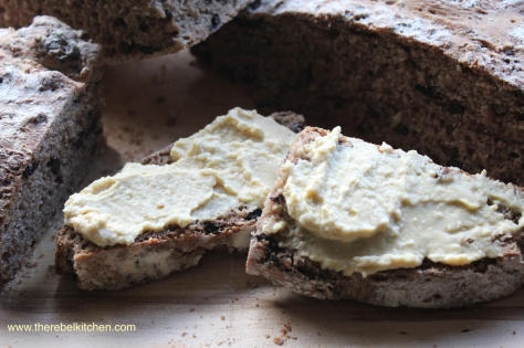 Olive Bread Slathered With Hummus Is Beyond Delicious