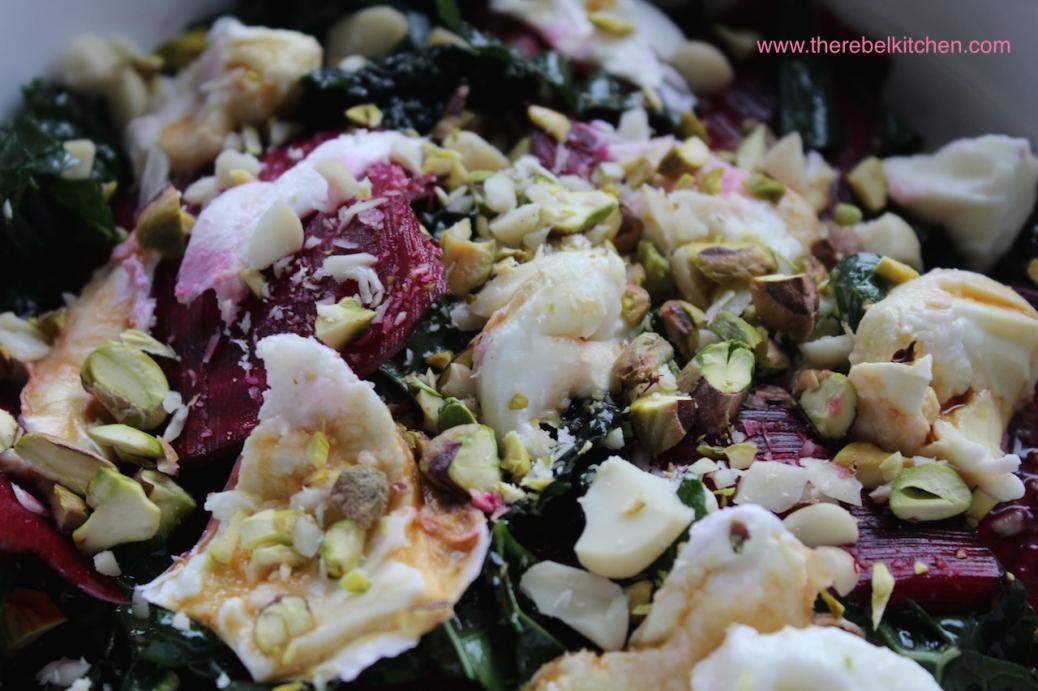 Mouth Watering Beetroot, Kale and Mozarella Salad