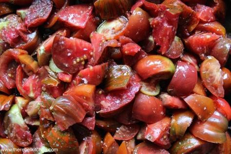 Chop Up The Tomatoes and Sprinkle With Sea Salt