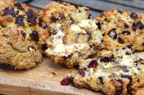 Buttery Little Bundles Of Chocolate, Cranberry and Walnut Glory