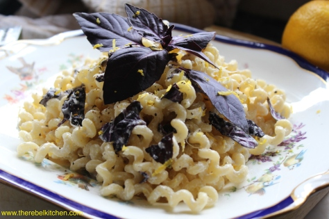 Lemon Ricotta And Purple Basil Pasta - A Thing Of Beauty Really