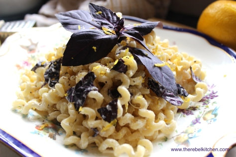 Dig Into Your Fancy Purple Basil and Lemon Ricotta Pasta