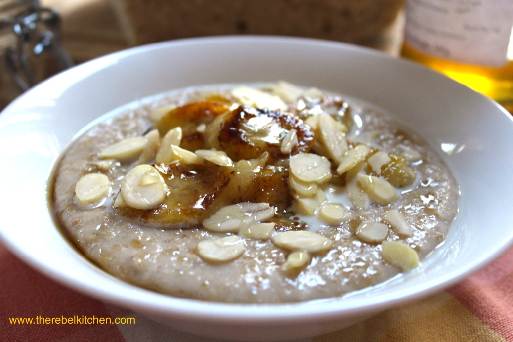 Beautiful And Decadent Banana Caramel Porridge