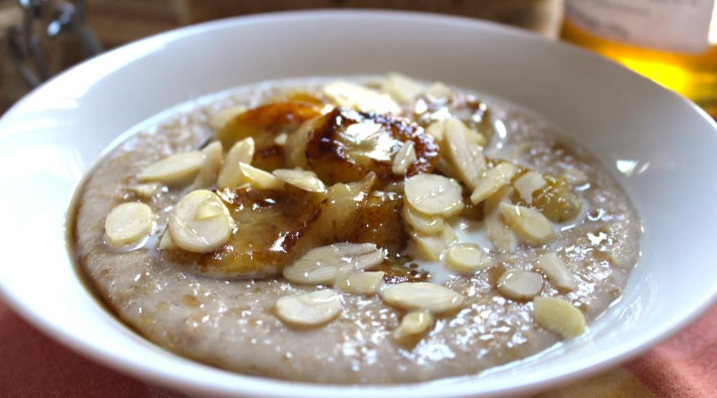 Beautiful And Decadent Banana Caramel Porridge