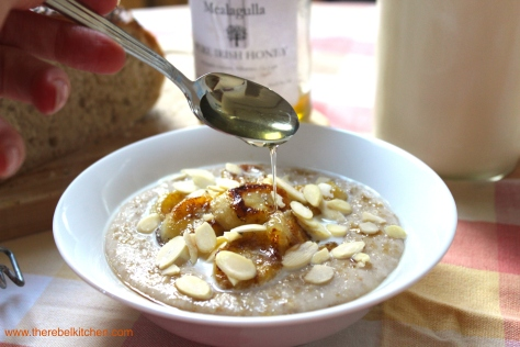 Drizzle Your Decadent Banana Bread Porridge With Honey For Some Extra Decadence