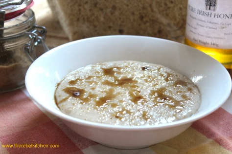 Let Your Brown Sugar Melt Into Caramel On The Hot Porridge