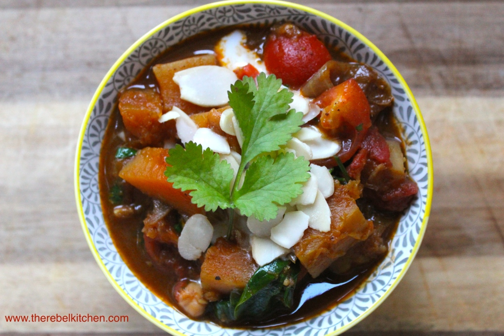 Delicious Vegetarian Squash And Chickpea Curry