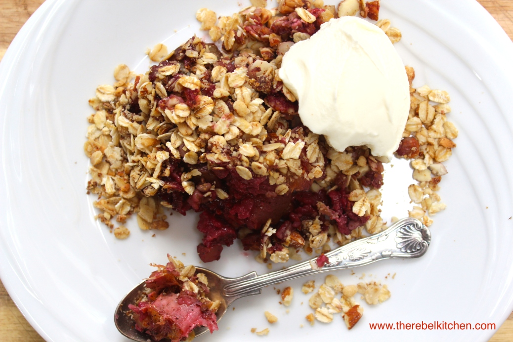 A Summer Fruit Oaty Nutty Crumble