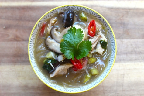 A Tasty Bowl Of Fragrant Chicken Noodle Soup