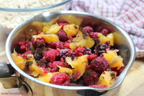 Add In Your Berries, Orange And Vanilla Powder